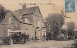 CARTE POSTALE D' ORIVAL SAINT HELLIER / CAFE / COMMERCE - Other Municipalities