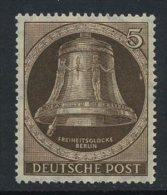 !a! BERLIN 1951 Mi. 075 MNH SINGLE - Freedom Bell - Neufs