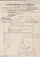 Facture Rechnung Landowski & Schuck Grossbeeren 1936 - Allemagne