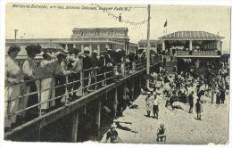 ASBURY PARK N.J. Watching Bathers 4th Ave Bathing Grounds Danish Immigrant C 1910 - Etats-Unis