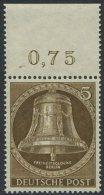 !a! BERLIN 1953 Mi. 101 MNH SINGLE W/ Top Margin (a) - Freedom Bell - Neufs