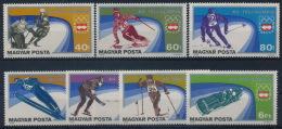 **Hungary 1975 Mi 3089-95 A (7) Olympic Winter Games Innsbruck Bob Hockey Skiing MNH - Nuovi