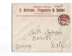 11425 AGENZIA D'AFFARI BELTRAME PREGNOLATO CONTARINA ROVIGO X ESTE - Storia Postale