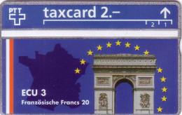SUISSE PRIVEE ARC DE TRIOMPHE PARIS NEUVE MINT DANS ENCART WITH FOLDER