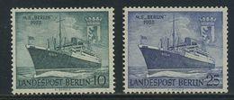 """!a! BERLIN 1955 Mi. 126-127 MNH SET Of 2 SINGLES - Motorship """"Berlin"""" - Neufs"""