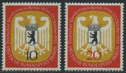 !a! BERLIN 1955 Mi. 129-130 MNH SET Of 2 SINGLES - German Bundestag At Berlin - Neufs