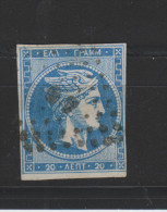 Yvert 37 Oblitéré Avec Chiffre Au Verso - 1861-86 Hermes, Groot