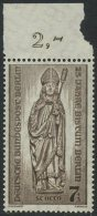 !a! BERLIN 1955 Mi. 132 MNH SINGLE W/ Top Margin - Rebuilding Of Destroyed Churches - Neufs