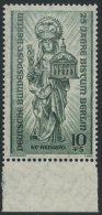 !a! BERLIN 1955 Mi. 133 MNH SINGLE W/ Bottom Margin - Rebuilding Of Destroyed Churches - Neufs
