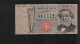ITALIA 1 000 LIRE 1969 - [ 2] 1946-… : Républic