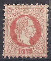 AUSTRIA  1867 EFFIGE DI FRANCESCO GIUSEPPE I  UNIF. 34 MLH VF (LEGGERO ASSOTTIGLIAMENTO) - 1850-1918 Empire