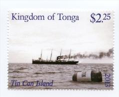 ton131001 Tonga 2013 Tin Can Island Ship Mail 1v