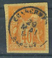 VEND BEAU TIMBRE DE FRANCE N° 94 , CACHET 15 : CHARGEMENTS ELBEUF ( 74 ) !!!! (e) - 1876-1898 Sage (Type II)