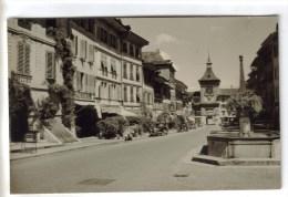 PHOTO FORMAT CPSM MORAT (Suisse-Fribourg) - Rue Principale - FR Fribourg