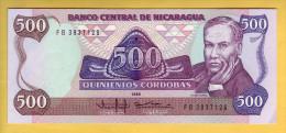 NICARAGUA - Billet De 500 Cordobas. 1985.  Pick: 155. NEUF - Nicaragua