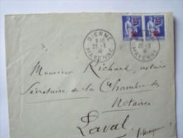 53 BIERNE - Cachet Manuel Du 23-3-1941 Sur Enveloppe Entière - Postmark Collection (Covers)