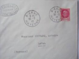 53 BIERNE - Cachet Manuel Du 30-3-1942 Sur Enveloppe Entière - Postmark Collection (Covers)