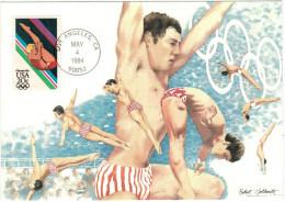 STATI UNITI - UNITED STATES - USA - US - 1984 - Olympics - Robert Goldsmith - Diving - New - Cartoline Maximum