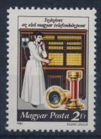 **Hungary 1981 Mi 3493 A Telecommunication Telephone MNH - Ungarn