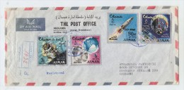 Ajman Manama/Germany SPACE REGISTERED COVER 1967 - Ajman