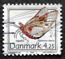 Denmark 2003 Seltene Insekten /insect / Insecte MiNr. 1338 (O)    Mayfly  / éphémère / Eintagsfliege ( Lot A 71 ) - Usado