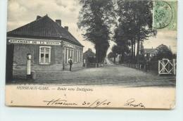 HERSEAUX-GARE  - Route Vers Dottignies, Estaminet De La Station, Passage à Niveau. - Belgique