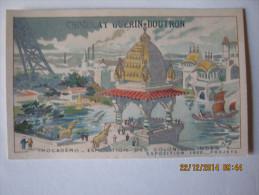CHROMO GUERIN BOUTRON EXPOSITION 1900  PROJETS TROCADERO COLONIE DES INDES   Illus H. TOUSSAINT - Guerin Boutron