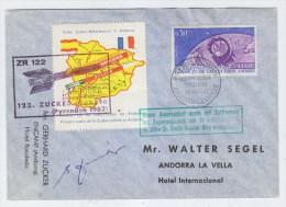 Andorra ROCKET POST ZR 122 COVER 1962 - Stamps
