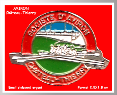 SUPER PIN´S AVIRON : Société D'Aviron De Château Thierry (Aisne) En Bel émail Cloisonné Base Argent - Aviron