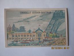 CHROMO GUERIN BOUTRON EXPOSITION 1900 PROJETS  BERGES DE LA SEINE PALAIS NAVIGATION  FLUVIALE  Illus H. TOUSSAINT - Guerin Boutron
