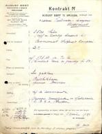 Facture Faktuur - Contract August Bert - Brugge 1929 - Meststoffen En Granen - Otros