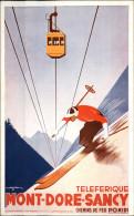 AFFICHES TOURISTIQUES - Chemins De Fer P. O. MIDI - Téléphérique Mont-Dore - Ski - Carte Illustrée Par GORDE - Illustrators & Photographers