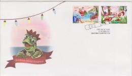 Christmas Island FDC Mi 709-710 - Christmas - Santa Claus - Crab - Turtle - Seagull - 2011 - Christmaseiland