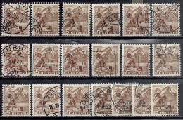 Schweiz 1948 Landschaftsbilder 5 Rappen Michel 500 Zumstein 285 19x Gestempelt - Gebraucht
