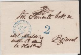 SpC045/  KUBA -  CUBA -  Habana 1854, Franco To Santiago. - Vorphilatelie