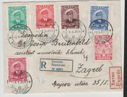 Yu044/ JUGOSLAWIEN -  König Alexander, 1. Todestag 9.10.35 Auf FDC, Einschreiben, Eilbotenn Nach Zagreb - 1931-1941 Kingdom Of Yugoslavia