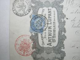 1902 , Brüssel     Firmenlochung , Perfin , Beleg - Lochung