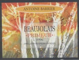 THEME PLANTES étiquette De Vin BEAUJOLAIS PRIMEUR / ARBRES - Feuilles