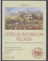 THEME DIVERS étiquette De Vin COTES DU ROUSSILLON VILLAGES - Bergen