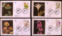 FRANCE Yvert 2766/69  FDC, 4 Enveloppes 1 Er Jour Sur Soie. NATURE DE FRANCE (Rossolis, Nenuphar,lys, Orchis Des Marais) - 1990-1999