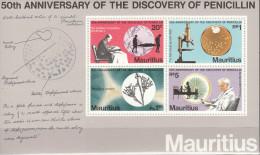 MAURITIUS 1978  A TRIBUTE TO ALEXANDER FLEMING PENICILLIN MNH ** NEUFS MIX - Nobelpreisträger