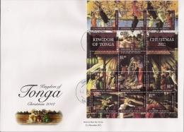 ton1214s1F Tonga 2012 Christmas s/s FDC Scott: 1193