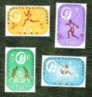 FIDJI - YT N°173 à 176 - 1ers Jeux Sportifs Du Pacific-Sud / Sports - Neufs - 1963 - Fidji (...-1970)