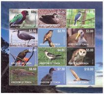 ton1202s1 Tonga 2012  Bird Definitive Part I Parrot KingFisher Crane Owl Eagle s/s Scott: 1170