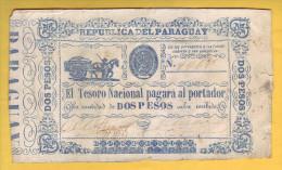 PARAGUAY - Billet De 2 Pesos. 1865.  Pick: 22. TTB - Paraguay
