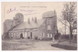"""Arthon - Château De Puymoreau (animation, Le Jardinier Tient La Faux) Pas Circulé, Mention écrite """"Colonel Manceron"""" - Other Municipalities"""
