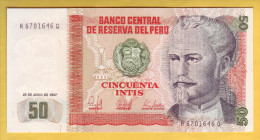 PEROU - Billet De 50 Intis. 26-06-87.  Pick: 131b. NEUF - Perú