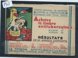 FRANCE  CARNET VIGNETTE ANTI TUBERCULEUX   NESLE   GIBBS CAFARD MITES  1930  NEUF - Commemorative Labels