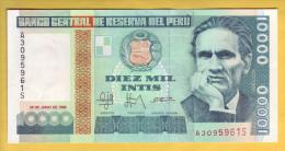 PEROU - Billet De 10000 Intis. 28-06-88.  Pick: 140. NEUF - Peru