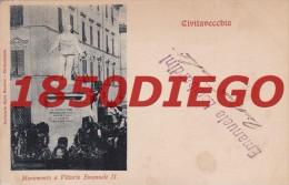 ROMA  -  CIVITAVECCHIA - MONUMENTO A VITTORIO EMANUELE II   F/PICCOLO VIAGGIATA ANIMATA - Roma
